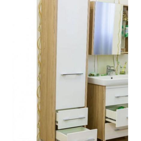 Комплект мебели Sanflor Ларго 60 белый купить в Москве по цене от 16002р. в интернет-магазине mebel-v-vannu.ru