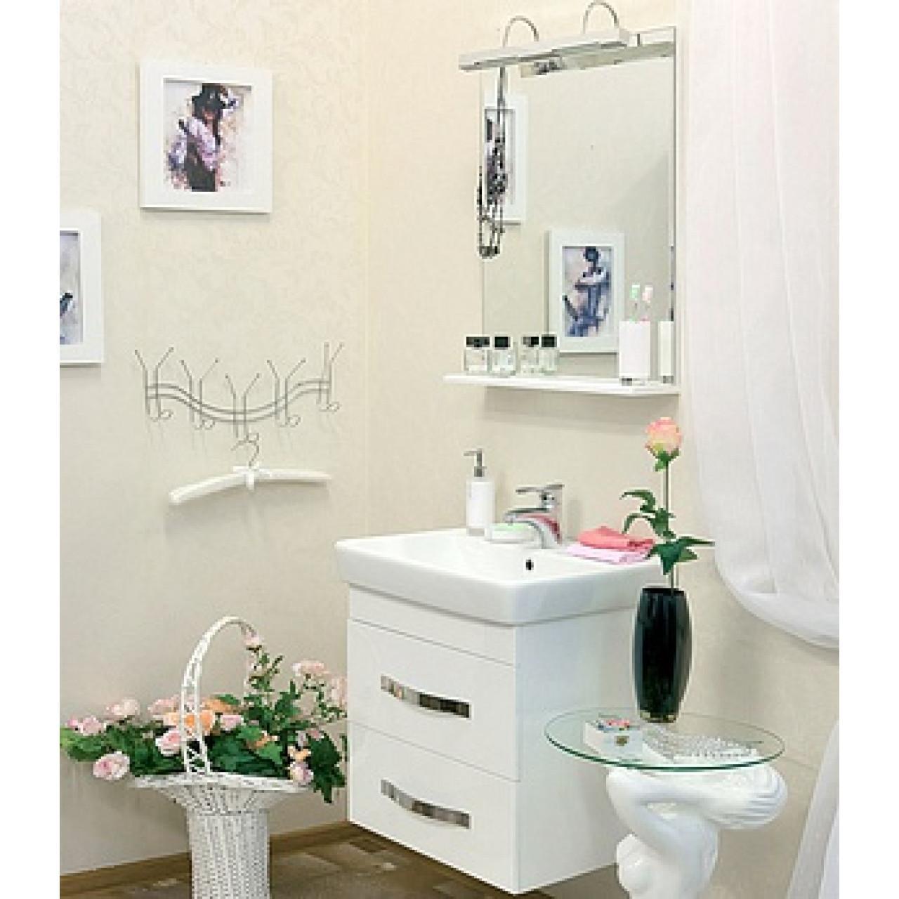 Комплект мебели Sanflor Одри 60 подвесной купить в Москве по цене от 15503р. в интернет-магазине mebel-v-vannu.ru