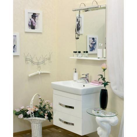 Комплект мебели Sanflor Одри 70 подвесной купить в Москве по цене от 17010р. в интернет-магазине mebel-v-vannu.ru