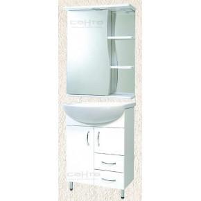 Комплект мебели СанТа Сити 60 c 2 ящиками с подсветкой