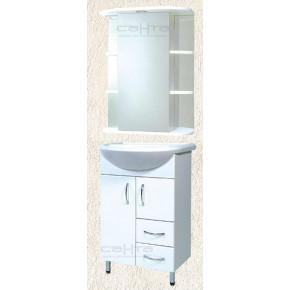 Комплект мебели СанТа Уют 55 c 2 ящиками белый