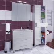 Комплект мебели Санта Омега 90 напольный с 3-мя ящиками купить в Москве по цене от 21291р. в интернет-магазине mebel-v-vannu.ru