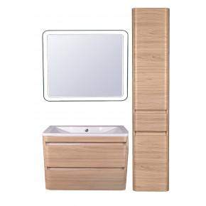 Комплект мебели Style Line Атлантика 90 Люкс Plus подвесной, ясень перламутр