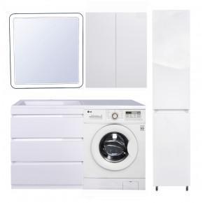 Комплект мебели Style Line Даллас 140 Люкс Plus напольная, белая