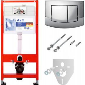 Система инсталляции для унитазов TECE TECEbase kit 9 400 005 4 в 1 с кнопкой смыва 9400005