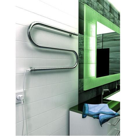 Полотенцесушитель электрический ТЕРА S-образный 420х700 купить в Москве по цене от 3264р. в интернет-магазине mebel-v-vannu.ru