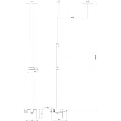 Душевая система Timo Sahara SX-1115 Chrome купить в Москве по цене от 20090р. в интернет-магазине mebel-v-vannu.ru