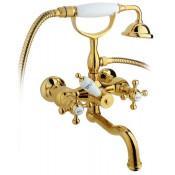 Смеситель Timo Nelson 1944Y-CR Gold для ванны с душем купить в Москве по цене от 17770р. в интернет-магазине mebel-v-vannu.ru