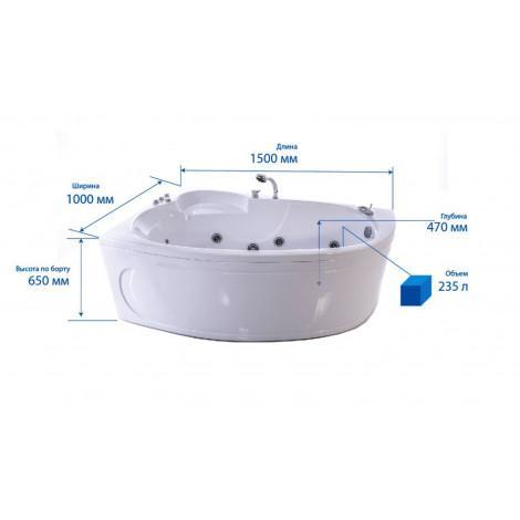 Акриловая ванна Triton Кайли 1500х1000х630 Л/П купить в Москве по цене от 14760р. в интернет-магазине mebel-v-vannu.ru