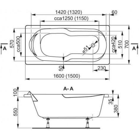 Акриловая ванна Vagnerplast Nymfa 160 см купить в Москве по цене от 24517р. в интернет-магазине mebel-v-vannu.ru
