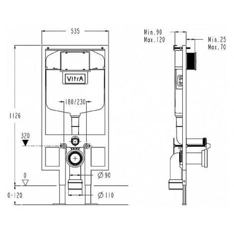 Система инсталляции для унитазов VitrA 748-5800-01 купить в Москве по цене от 9335р. в интернет-магазине mebel-v-vannu.ru