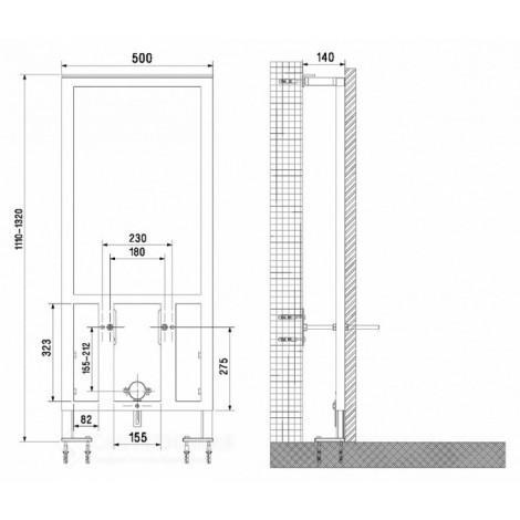 Система инсталляции для биде VitrA 780-5820 купить в Москве по цене от 5739р. в интернет-магазине mebel-v-vannu.ru