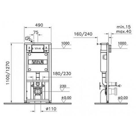 Система инсталляции для унитазов VitrA 742-5800-01 купить в Москве по цене от 11533р. в интернет-магазине mebel-v-vannu.ru