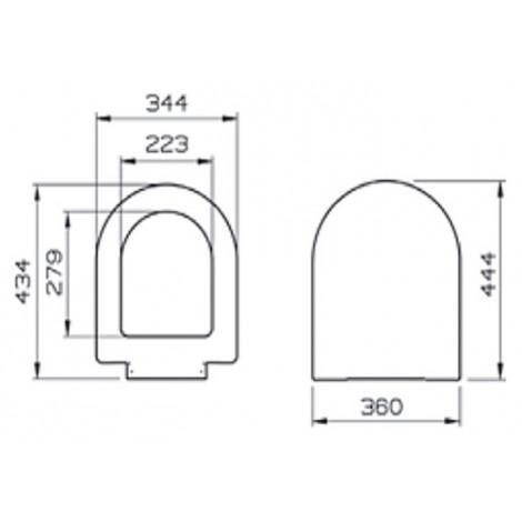 Крышка-сиденье VitrA S50 72-003-309 с микролифтом купить в Москве по цене от 4358р. в интернет-магазине mebel-v-vannu.ru