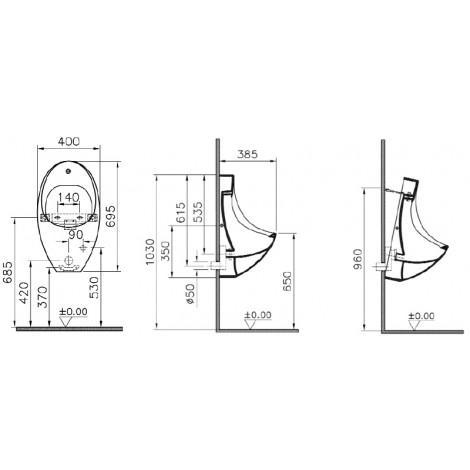Писсуар VitrA Arkitekt 4106B003-5200 сенсорное управление купить в Москве по цене от 22012р. в интернет-магазине mebel-v-vannu.ru