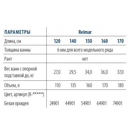 Стальная ванна ВИЗ Reimar 120 см R-24901 купить в Москве по цене от 12765р. в интернет-магазине mebel-v-vannu.ru