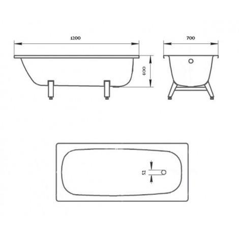 Стальная ванна ВИЗ Donna Vanna 120 см DV-23901 купить в Москве по цене от 9435р. в интернет-магазине mebel-v-vannu.ru