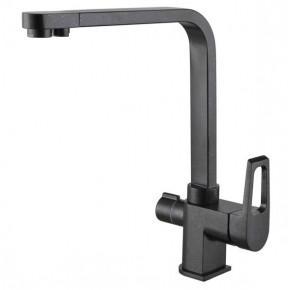 Смеситель Zorg Clean Water ZR 334 YF черный металлик для кухонной мойки