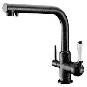 Смеситель Zorg Clean Water ZR 313 YF-33 черный металл для кухонной мойки