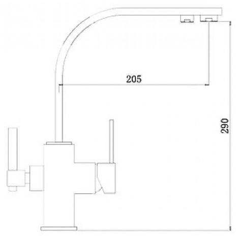 Смеситель Zorg Clean Water ZR 332 YF для кухонной мойки купить в Москве по цене от 11450р. в интернет-магазине mebel-v-vannu.ru